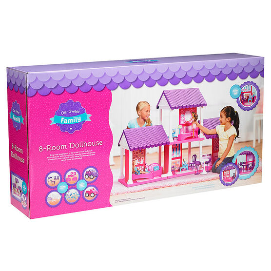 Our Sweet Family 8-Room Dollhouse