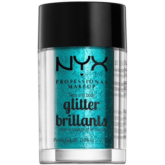 NYX Professional Makeup Face and Body Glitter - Teal