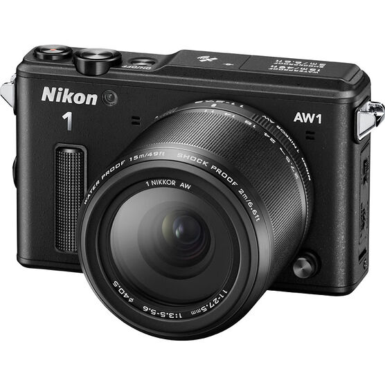 Nikon 1 AW1 with 11-27.5mm Lens - Black
