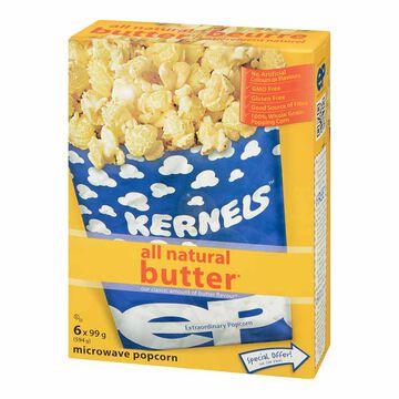 Kernels Microwave Popcorn - Butter - 6pack