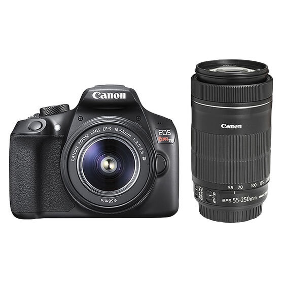 Canon Rebel T6 with 18-55mm and 55-250mm Lens - PKG 24751