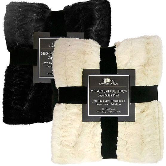 Dover Fur Throw - Assorted
