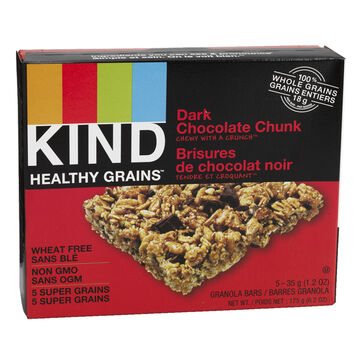 Kind Healthy Grains Bar - Dark Chocolate Chunk - 5 x 35g
