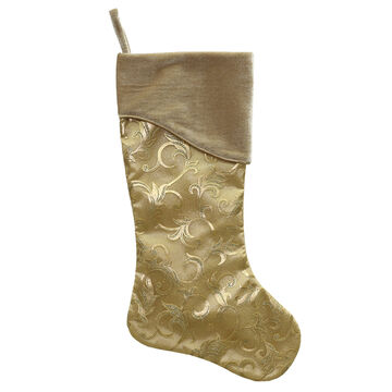 Satin Swirl Stocking - 21 in - Gold