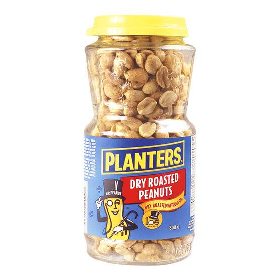 Planters Peanuts - Dry Roasted - 300g