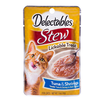 Delectables Stew Lickable Treat - Tuna and Shrimp - 40g