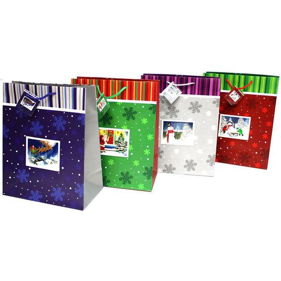 Christmas 3D Lenticular Gift Bag - Assorted