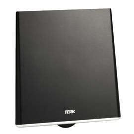 Terk Flat Amplified TV Antenna - Black - CFDTV1A