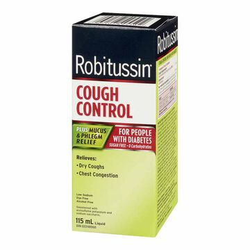 Robitussin DM Cough Control for People with Diabetes - 115ml