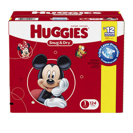 Huggies Snug & Dry Diapers - Size 1 - 124's