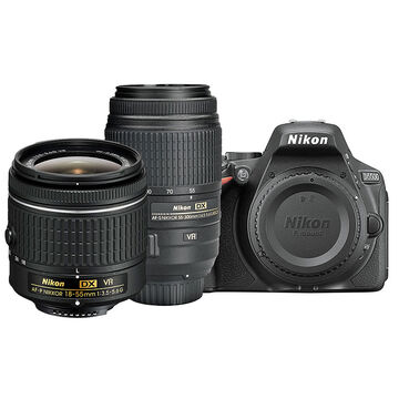 Nikon D5500 with AF-P DX 18-55mm VR and AF-S DX 55-300mm ED VR Lens - PKG 24659
