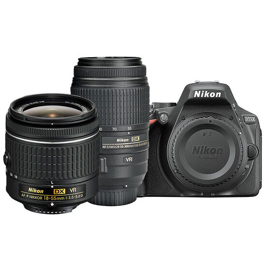 Nikon D5500 with AF-P DX 18-55mm VR and AF-S DX 55-300mm ED VR Lens - PKG 24659