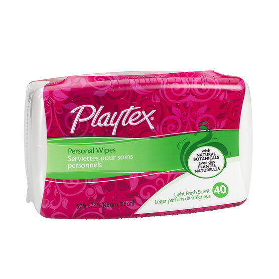 Playtex Personal Cleansing Cloths - 40's