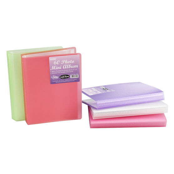 "Pioneer 4x6"" Mini Poly Cover 60-Pocket Album"