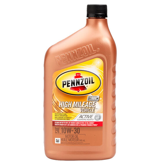 Pennzoil High Mileage Motor Oil - 10W30 - 946ml