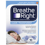 Breathe Right Nasal Strips - Clear - Small/Medium - 10's
