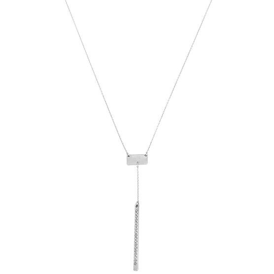 Kenneth Cole Rhodium Necklace - Crystal