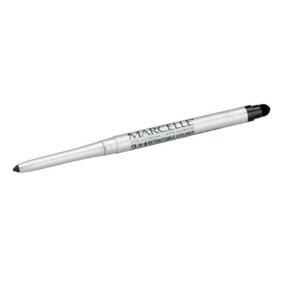 Marcelle 2-in-1 Retractable Eyeliner or Liquid Eyeliner Pen - Amethyst