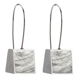 Merx Resin Shell Drop Earrings - White
