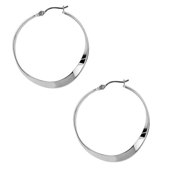 Robert Lee Morris Concaved Hoop Earrings - Silver