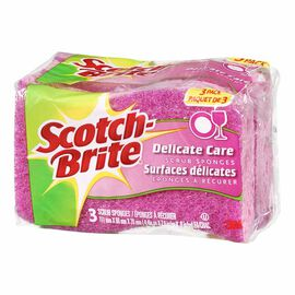 Scotch-Brite Delicate Duty Scrub Sponge - 3 pack