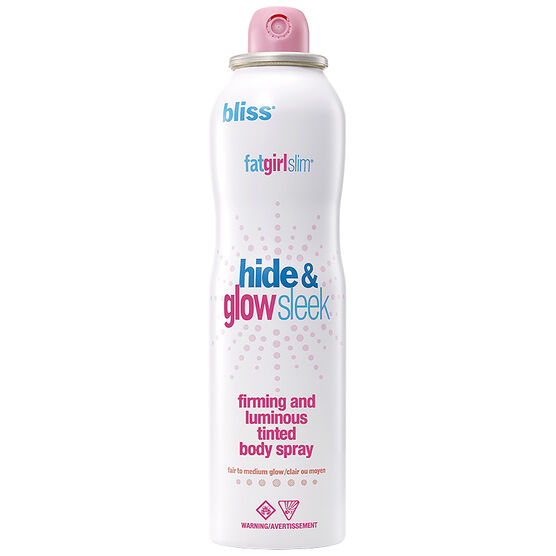Bliss FatGirlSlim Hide and Glow Sleek Firming & Luminous Tinted Body Spray - Fair to Medium - 113g