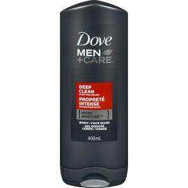 Dove Men+Care Micro Moisture Body + Face Wash - Deep Clean - 400ml