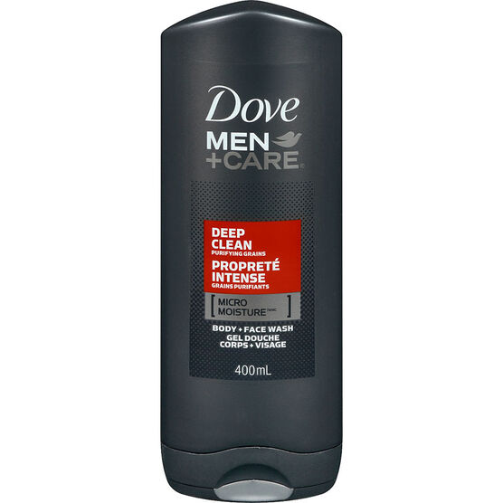 Dove Men+Care Micro Moisture Body + Face Wash - Deep Clean - 400ml
