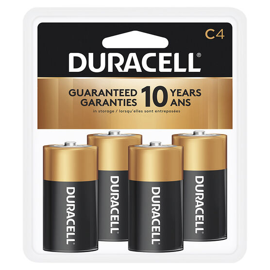 Duracell CopperTop C Alkaline Batteries - 4 pack