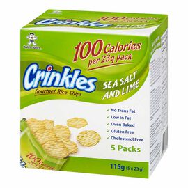 Want-Want Crinkles Rice Chips - Sea Salt & Lime - 115g