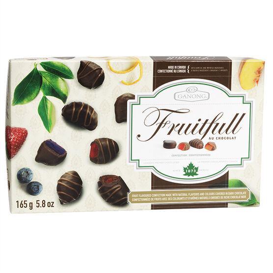 Ganong Fruitfull Au Chocolat - 165g