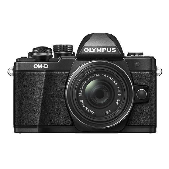 Olympus OM-D E-M10 Mark II with 14-42mm II R Manual Zoom Lens - Black - V207051BU000