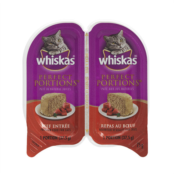 Whiskas Perfect Portions Entrees - Beef - 2 x 37.5g
