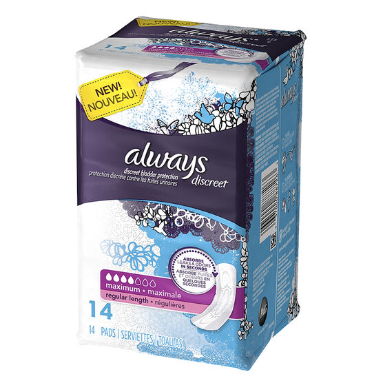 Always Discreet Pads Maximum Regular Length - 14's
