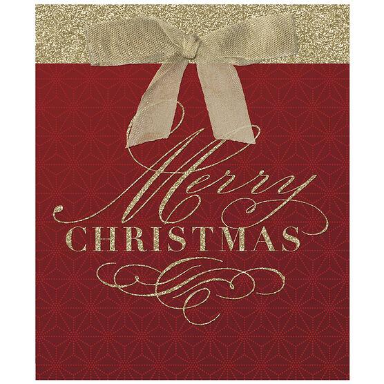 Hallmark Merry Christmas Gift Bag - Small - Elegant Reds - 0299XGB1211
