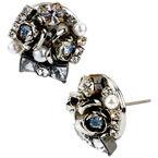 Betsey Johnson Bow Sunburst Earrings - Crystal