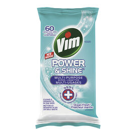 Vim  Power & Shine Wipes - Ocean Fresh - 60's
