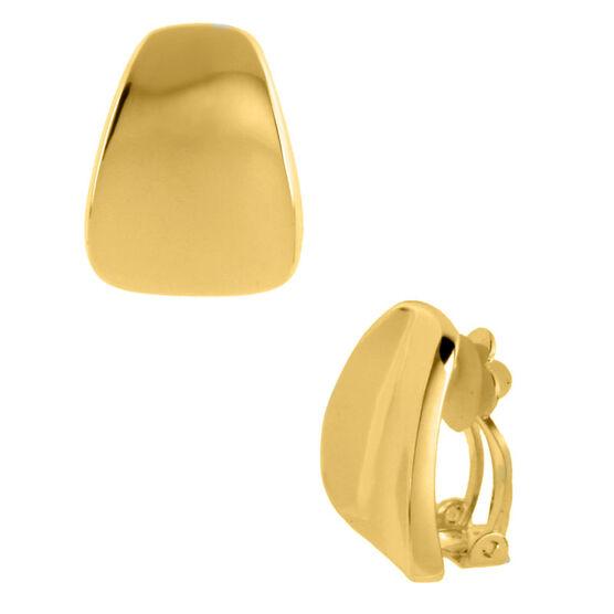 Robert Lee Morris Wedge Button Clip Earrings - Gold