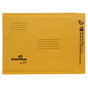 Duck Brand Bubble Wrap Cushioned Kraft Envelope - 8.5x11 inches