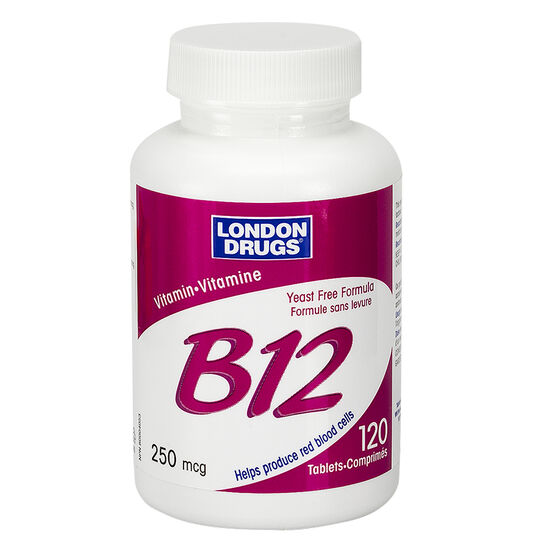 London Drugs Vitamin B-12 - 250mcg - 120's