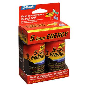 5-Hour Energy Drink - Berry - 2x57mL