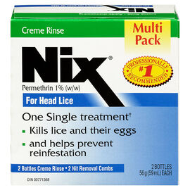 Nix Creme Rinse for Head Lice - Multi Pack - 2x59ml