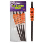 Halloween Jack-O-Lantern Straws - 4 pieces