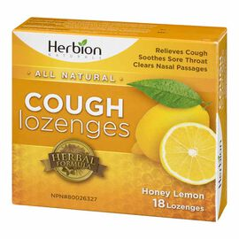 Herbion All Natural Cough Lozenges - Honey Lemon - 18's