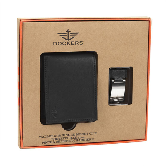 Dockers Wallet with Hinged Money Clip - Black
