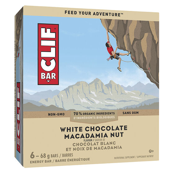 Clif Bar - White Chocolate Macadamia - 6 x 68g