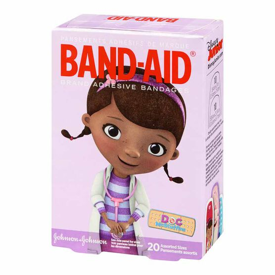 Johnson & Johnson Band-Aids - Doc McStuffins - 20's