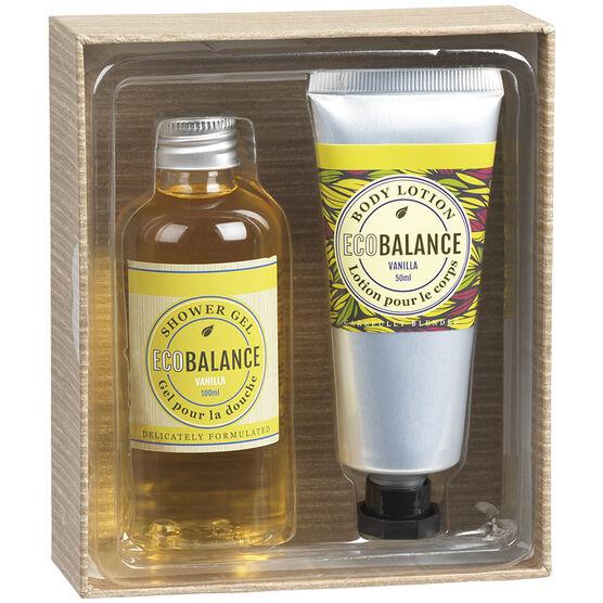 ECOBALANCE Bath Gift Box - Vanilla - 2 piece