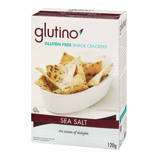 Glutino Snack Crackers - Sea Salt - 120g