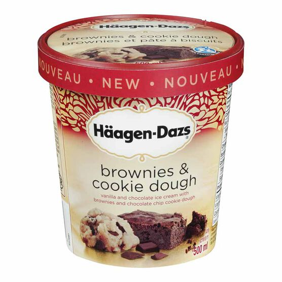 Haagen Dazs Brownie & Cookie Dough Ice Cream - 500ml